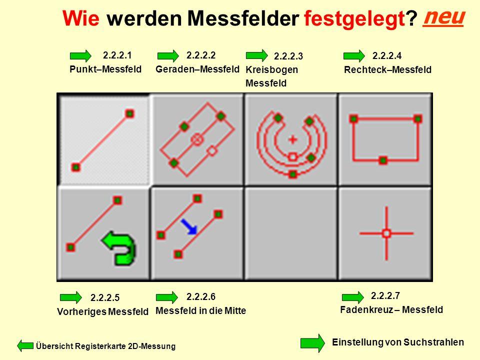 Wie werden Messfelder festgelegt