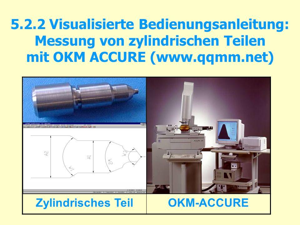 5.2.2 Visualisierte Bedienungsanleitung: Messung von zylindrischen Teilen mit OKM ACCURE (www.qqmm.net)