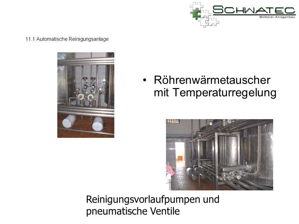 11.1 Automatische Reinigungsanlage
