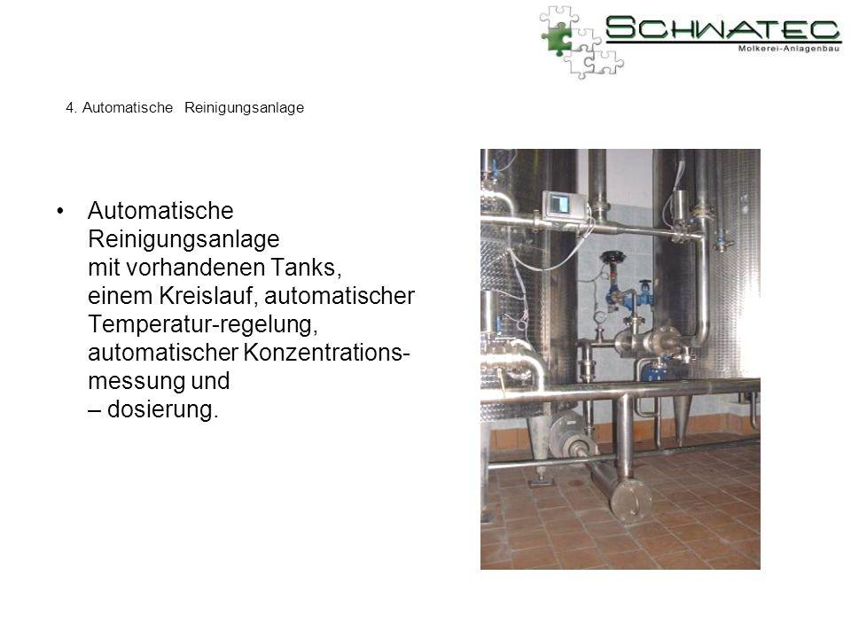 4. Automatische Reinigungsanlage
