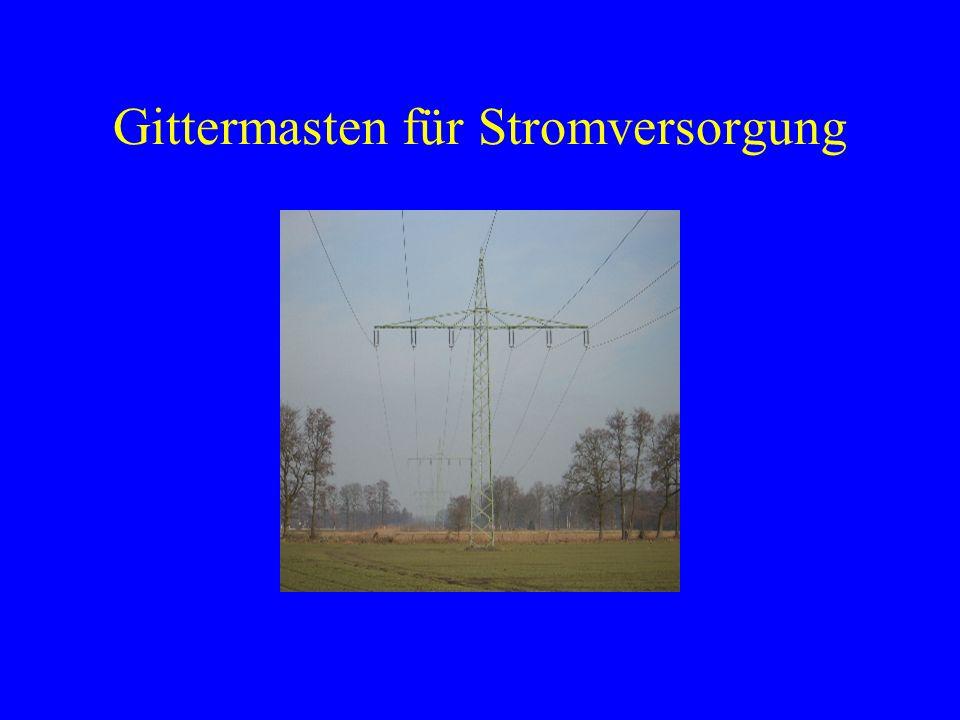 Gittermasten für Stromversorgung
