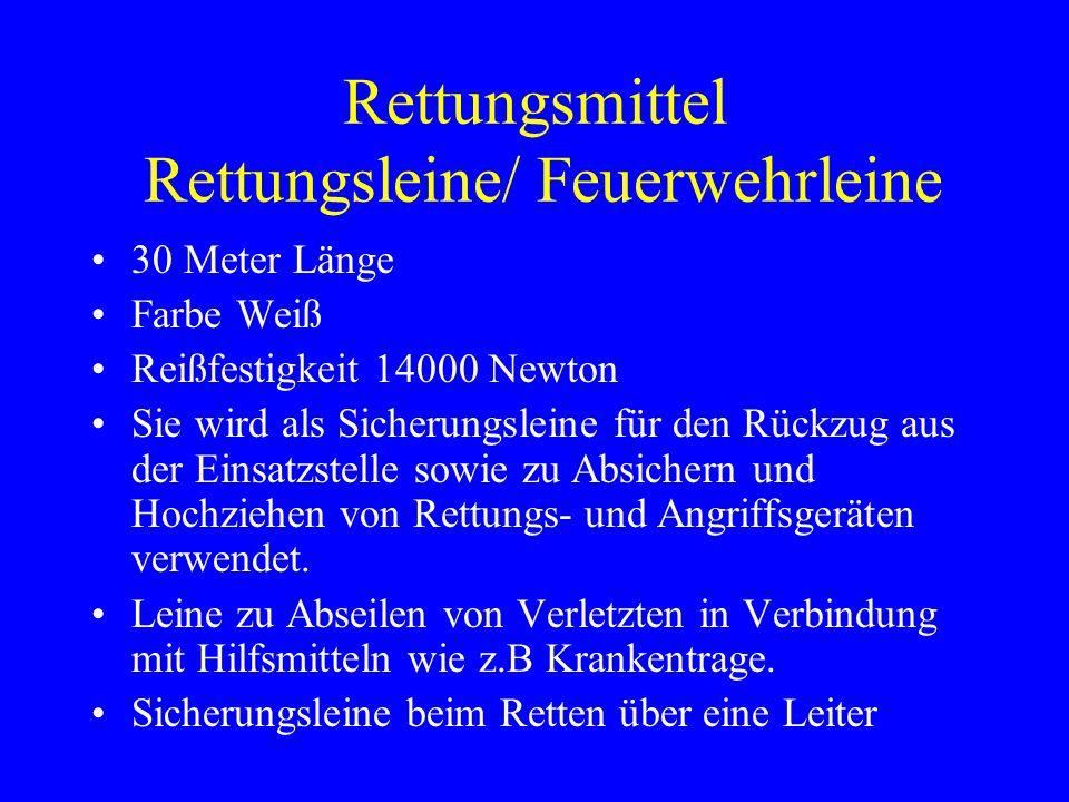 Rettungsmittel Rettungsleine/ Feuerwehrleine