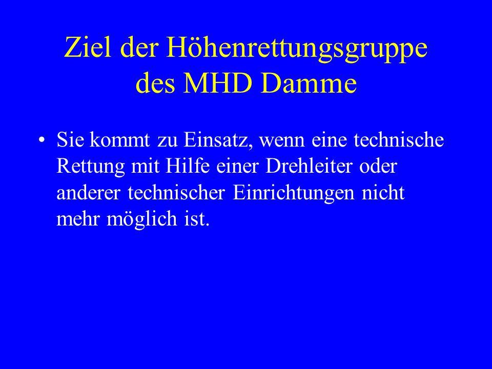 Ziel der Höhenrettungsgruppe des MHD Damme