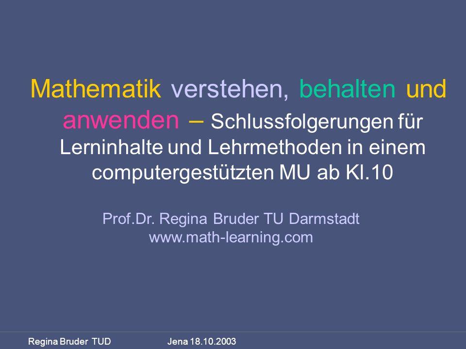 Prof.Dr. Regina Bruder TU Darmstadt