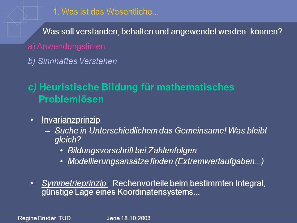 c) Heuristische Bildung für mathematisches Problemlösen