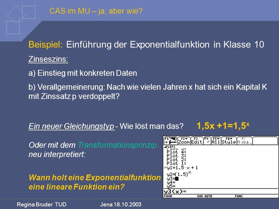 Beispiel: Einführung der Exponentialfunktion in Klasse 10