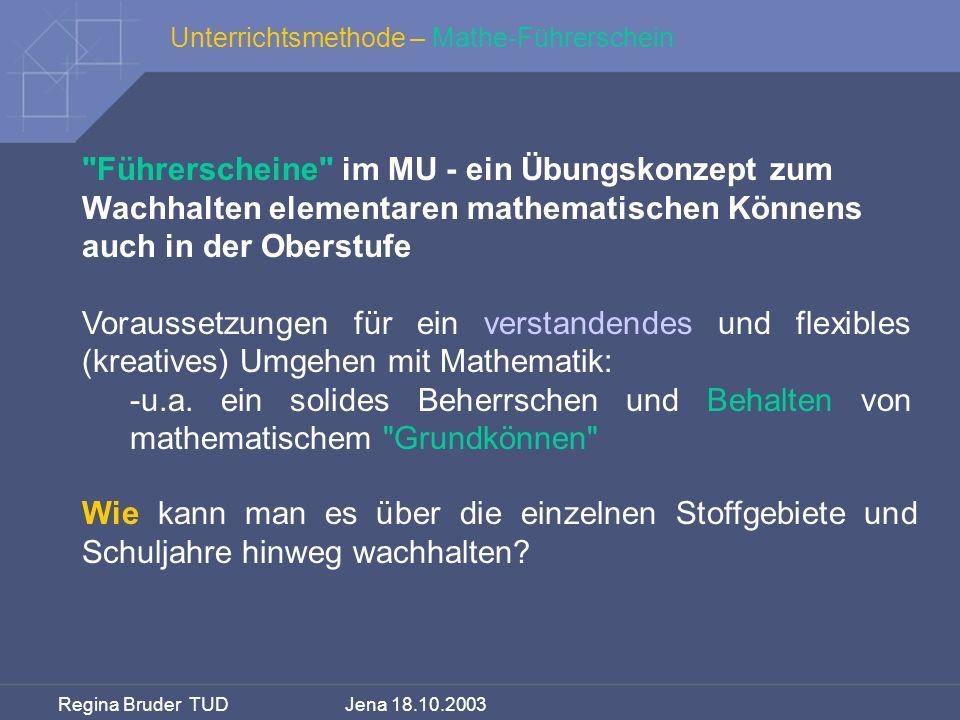 Unterrichtsmethode – Mathe-Führerschein