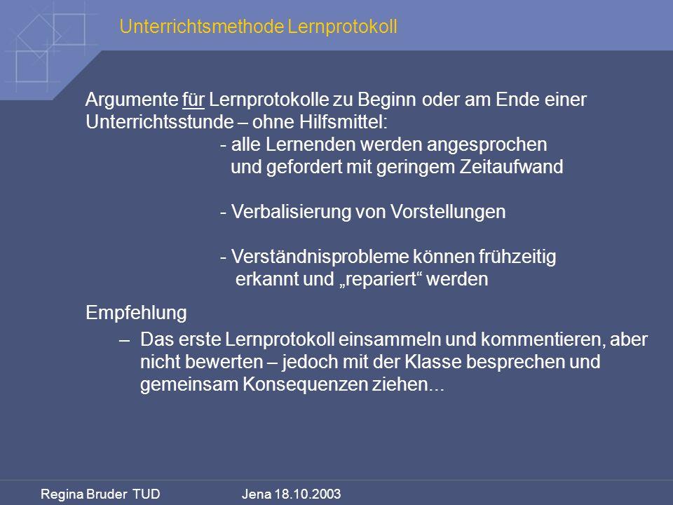 Unterrichtsmethode Lernprotokoll