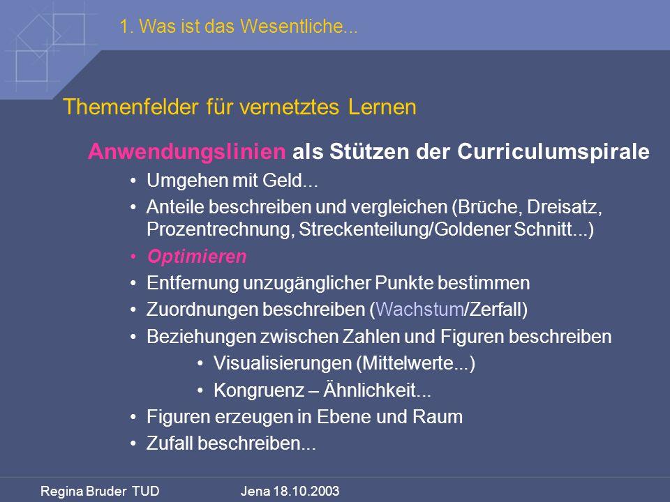 Themenfelder für vernetztes Lernen