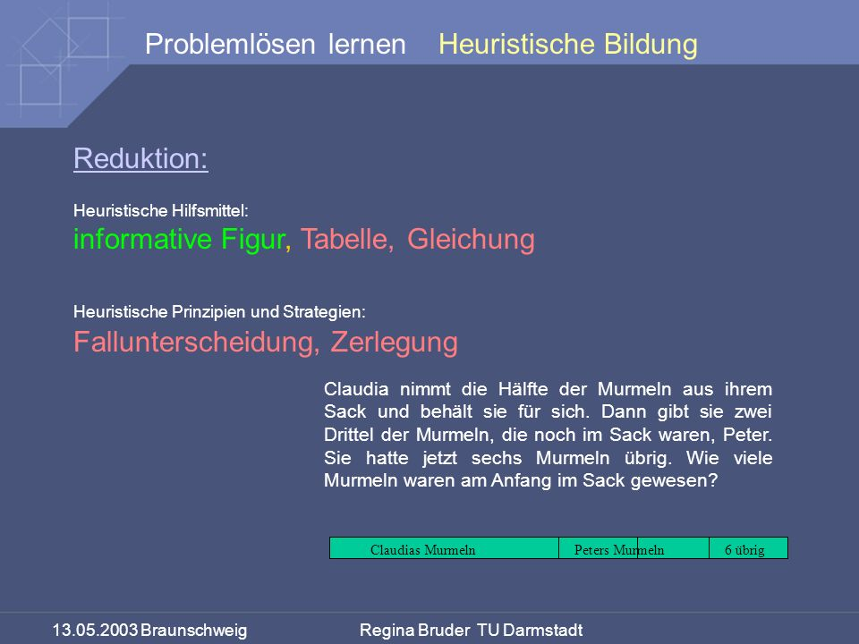 informative Figur, Tabelle, Gleichung