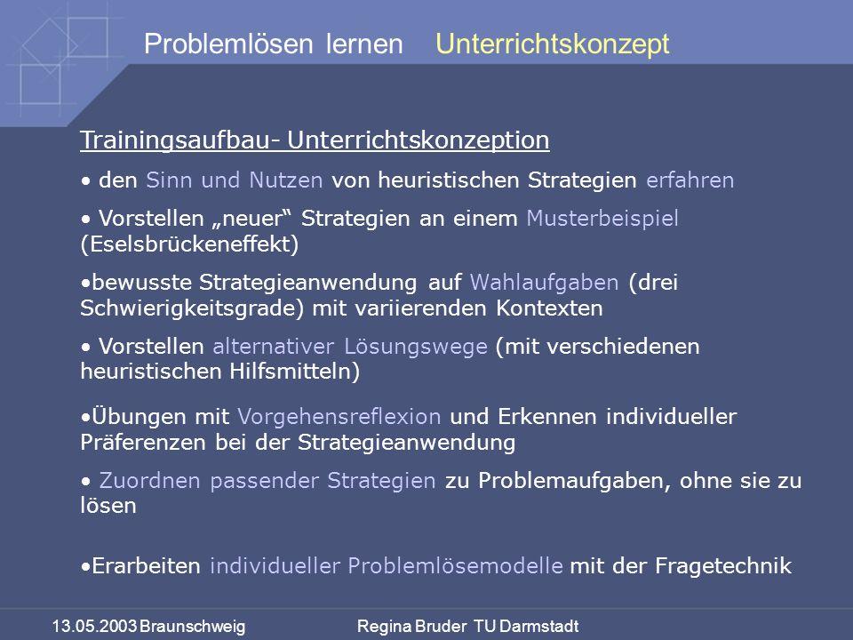 Unterrichtskonzept Trainingsaufbau- Unterrichtskonzeption