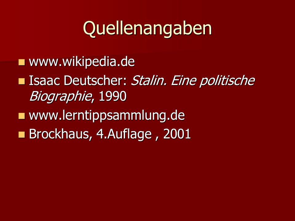 Quellenangaben www.wikipedia.de