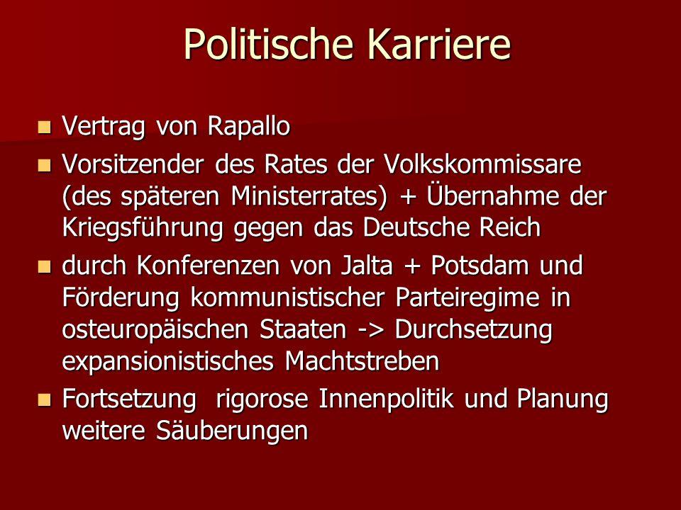 Politische Karriere Vertrag von Rapallo