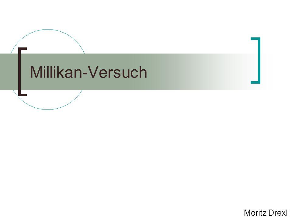 Millikan-Versuch Moritz Drexl