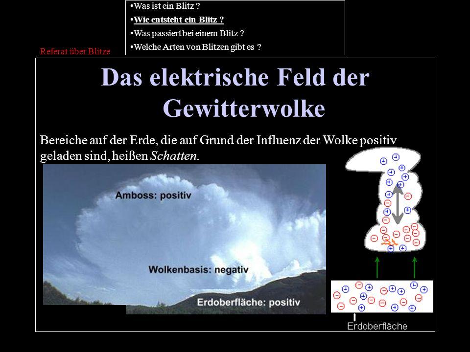 Das elektrische Feld der Gewitterwolke