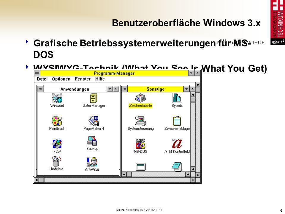 Benutzeroberfläche Windows 3.x