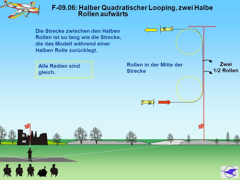 F-09.06: Halber Quadratischer Looping, zwei Halbe Rollen aufwärts