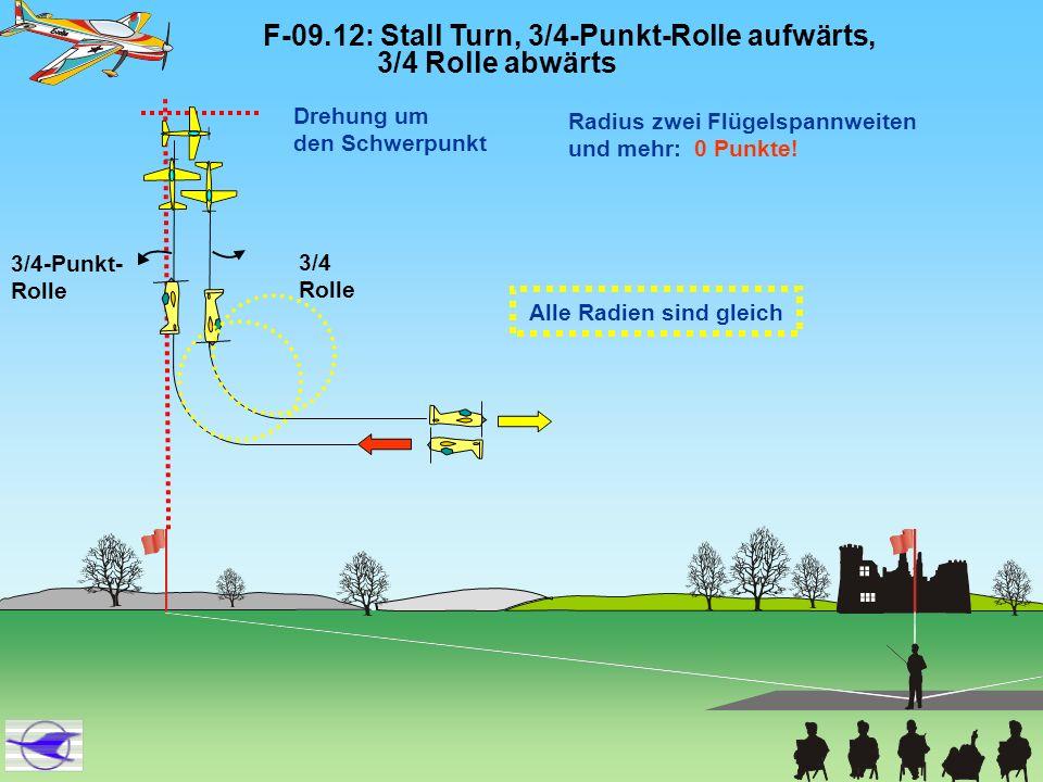 F-09.12: Stall Turn, 3/4-Punkt-Rolle aufwärts, 3/4 Rolle abwärts