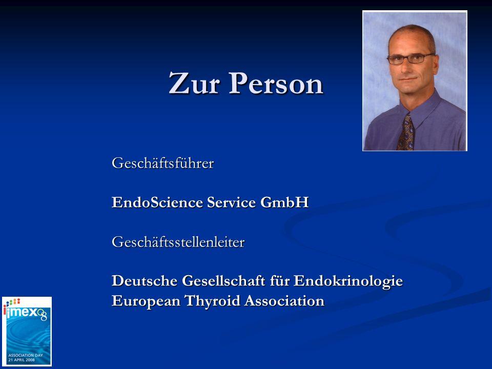 Zur Person Geschäftsführer EndoScience Service GmbH