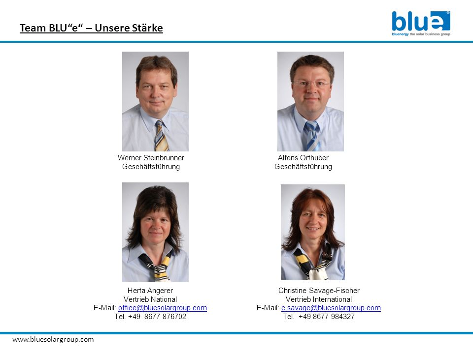 Team BLU e – Unsere Stärke