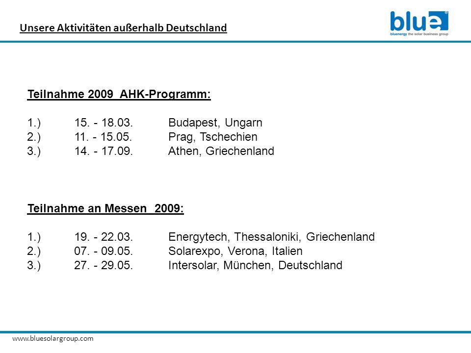 Unsere Aktivitäten außerhalb Deutschland