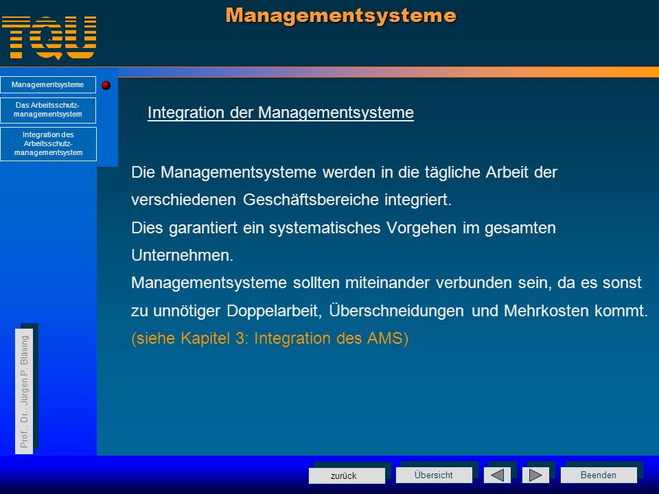 Managementsysteme Integration der Managementsysteme
