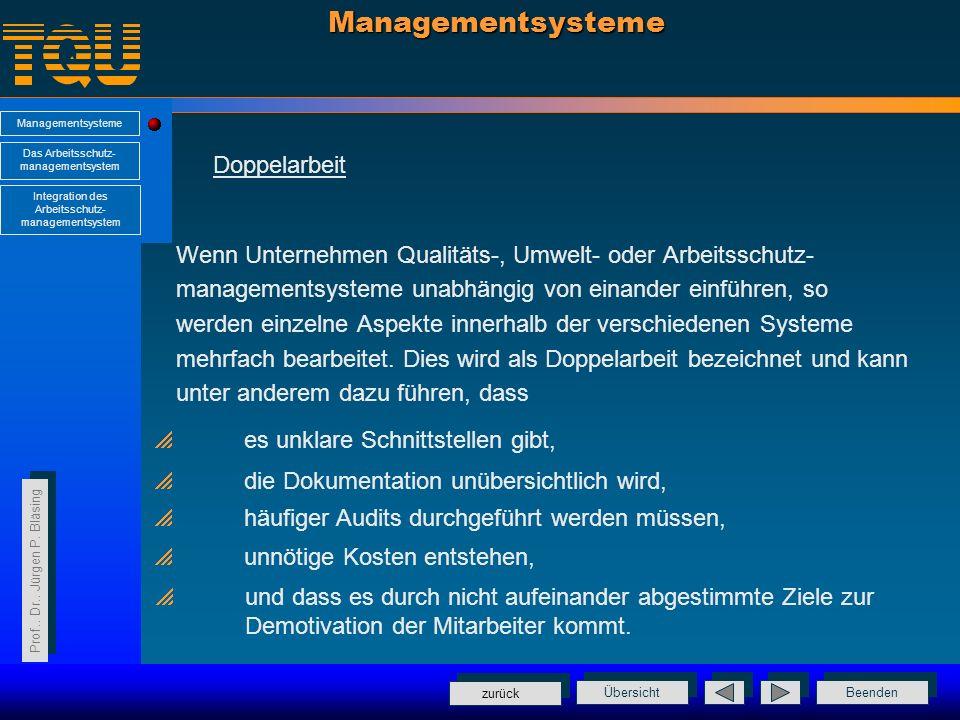 Managementsysteme Doppelarbeit