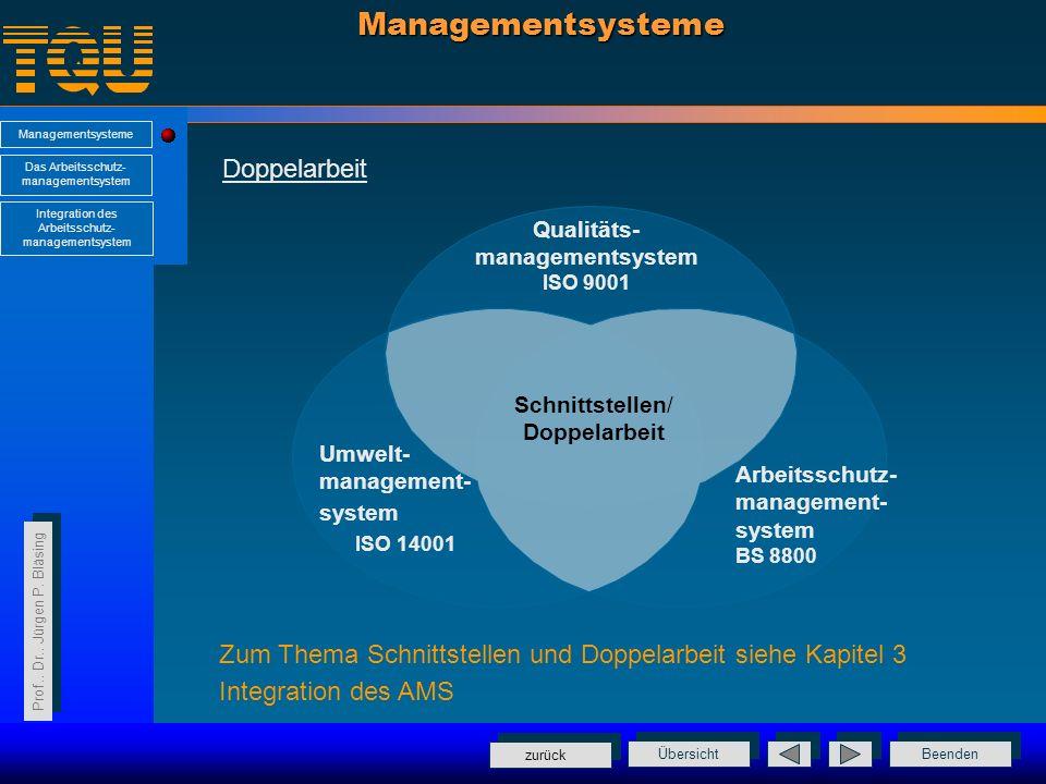Managementsysteme Doppelarbeit ISO 14001