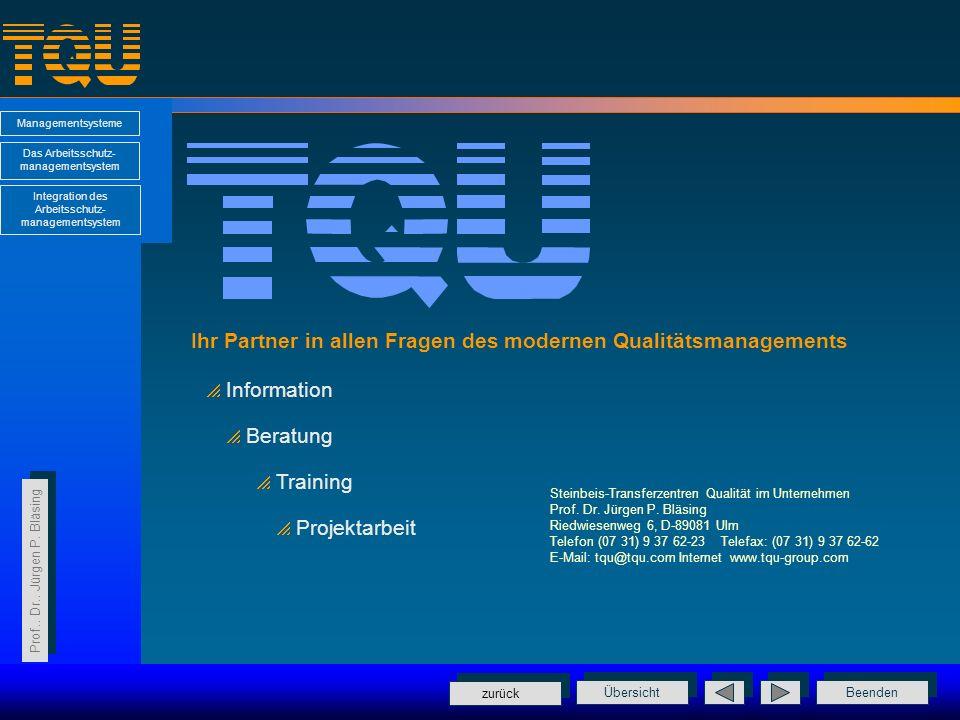 Ihr Partner in allen Fragen des modernen Qualitätsmanagements