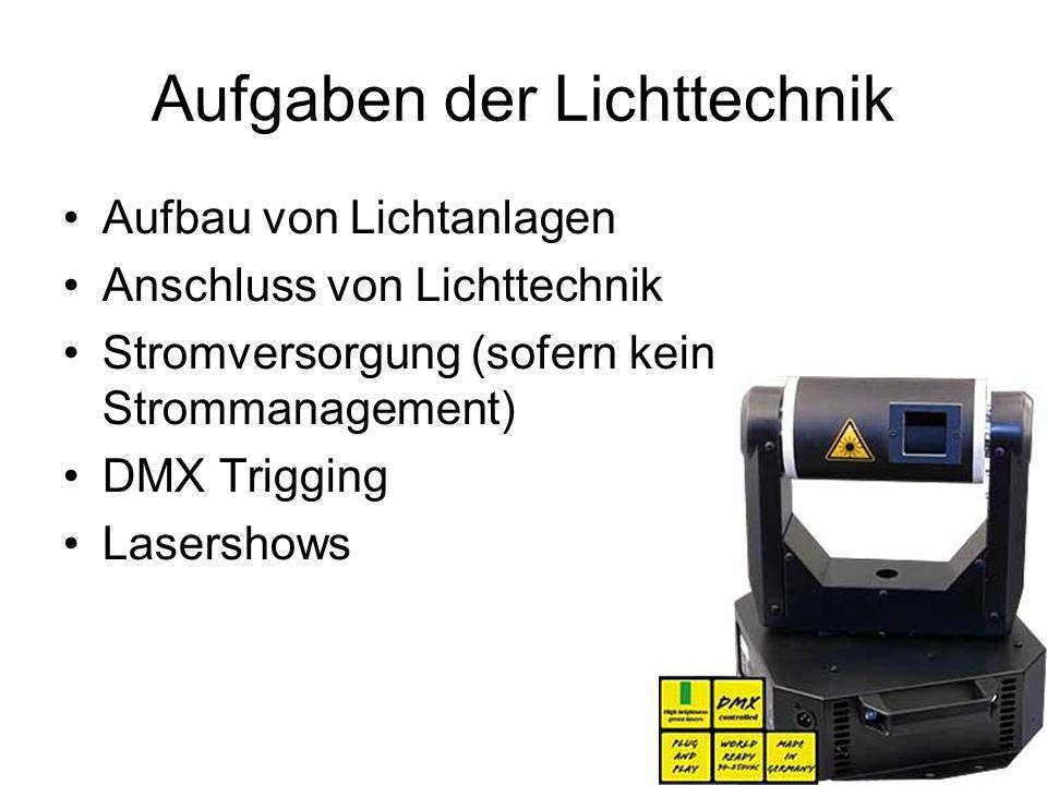Aufgaben der Lichttechnik