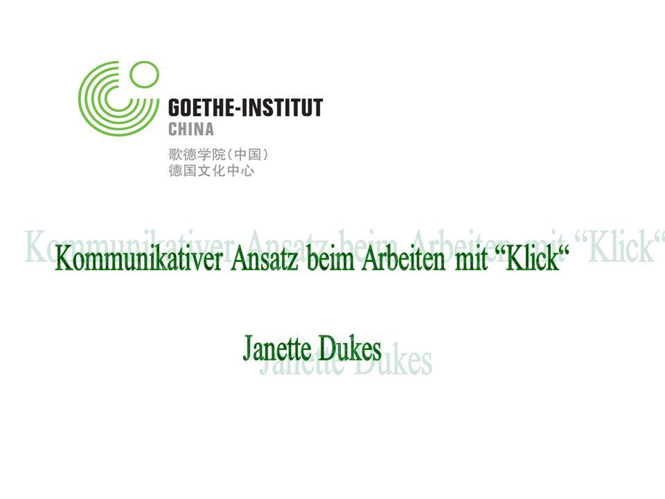 Kommunikativer Ansatz beim Arbeiten mit Klick