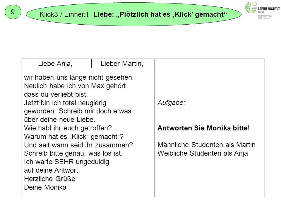 """Klick3 / Einheit1 Liebe: """"Plötzlich hat es 'Klick' gemacht 9"""