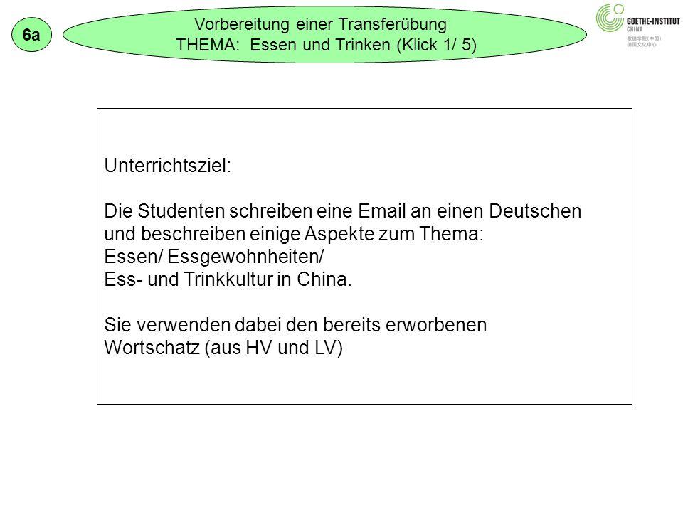 Die Studenten schreiben eine Email an einen Deutschen