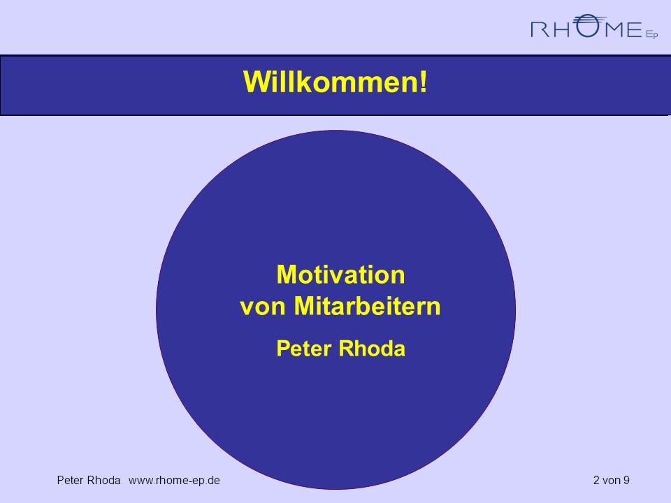 Motivation von Mitarbeitern Peter Rhoda