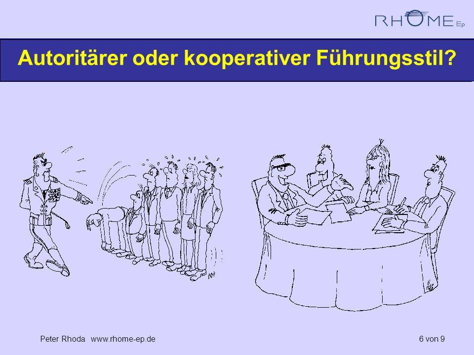 Autoritärer oder kooperativer Führungsstil