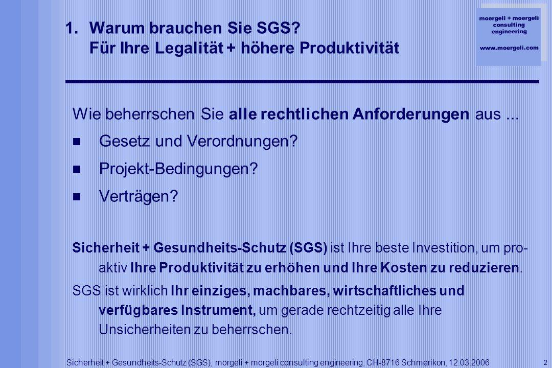 Warum brauchen Sie SGS Für Ihre Legalität + höhere Produktivität