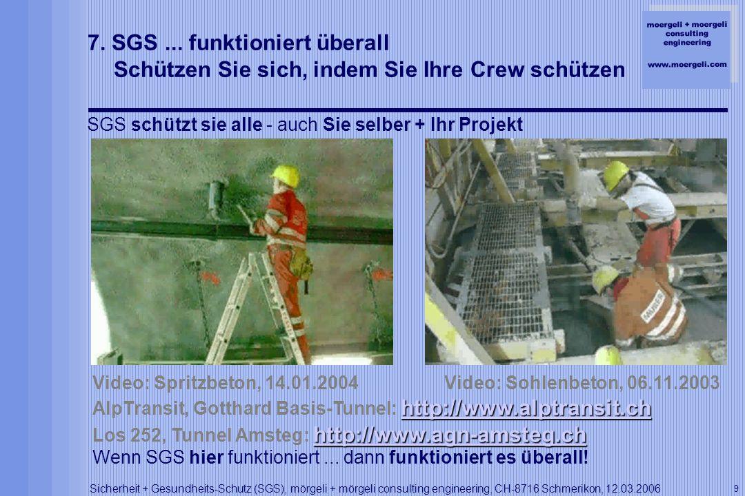 7. SGS ... funktioniert überall Schützen Sie sich, indem Sie Ihre Crew schützen