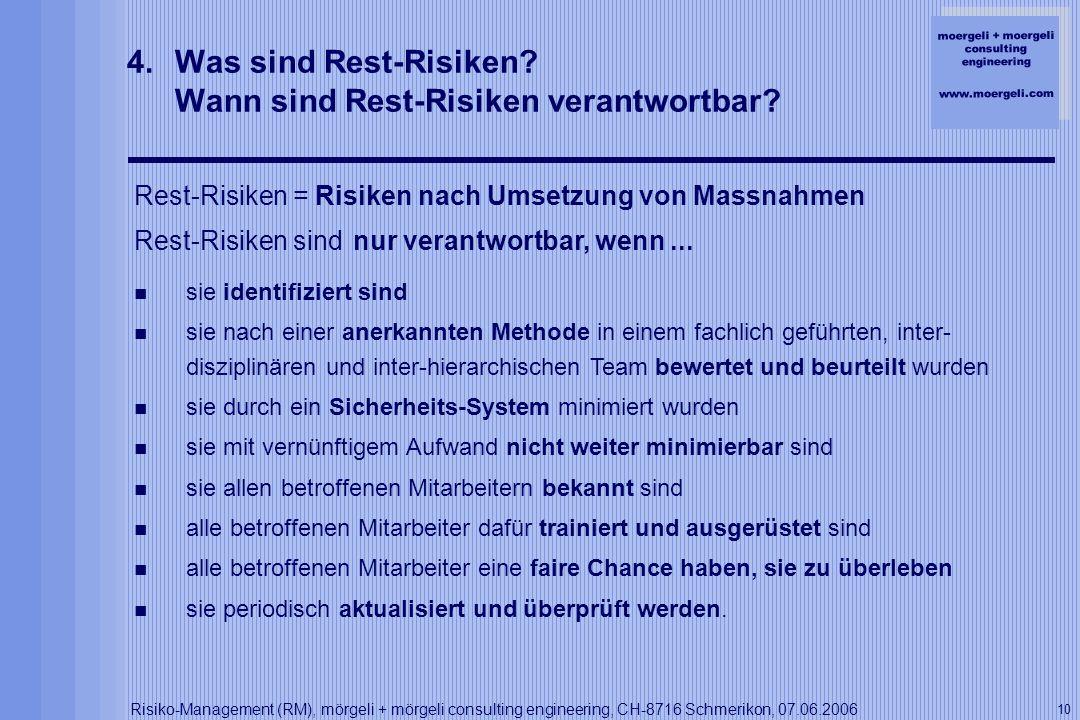 Was sind Rest-Risiken Wann sind Rest-Risiken verantwortbar