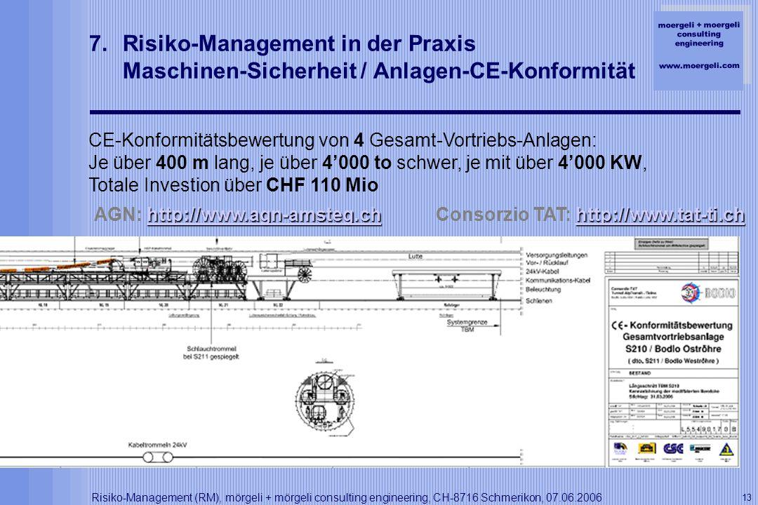 Risiko-Management in der Praxis Maschinen-Sicherheit / Anlagen-CE-Konformität