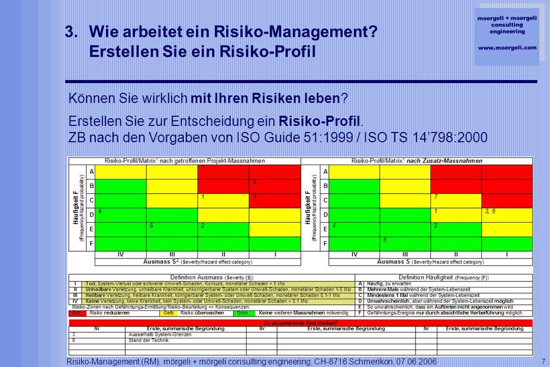 Wie arbeitet ein Risiko-Management Erstellen Sie ein Risiko-Profil