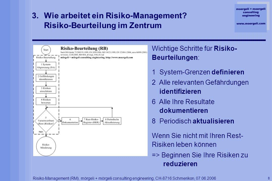 Wie arbeitet ein Risiko-Management Risiko-Beurteilung im Zentrum