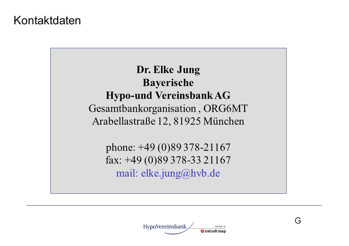Kontaktdaten Dr. Elke Jung Bayerische Hypo-und Vereinsbank AG