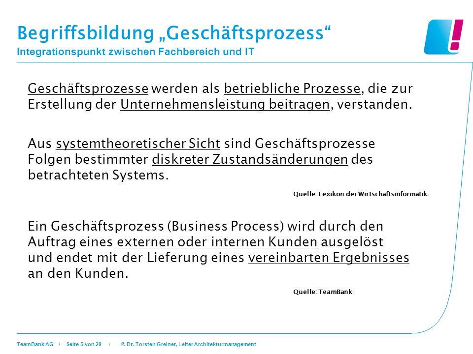 """Begriffsbildung """"Geschäftsprozess"""
