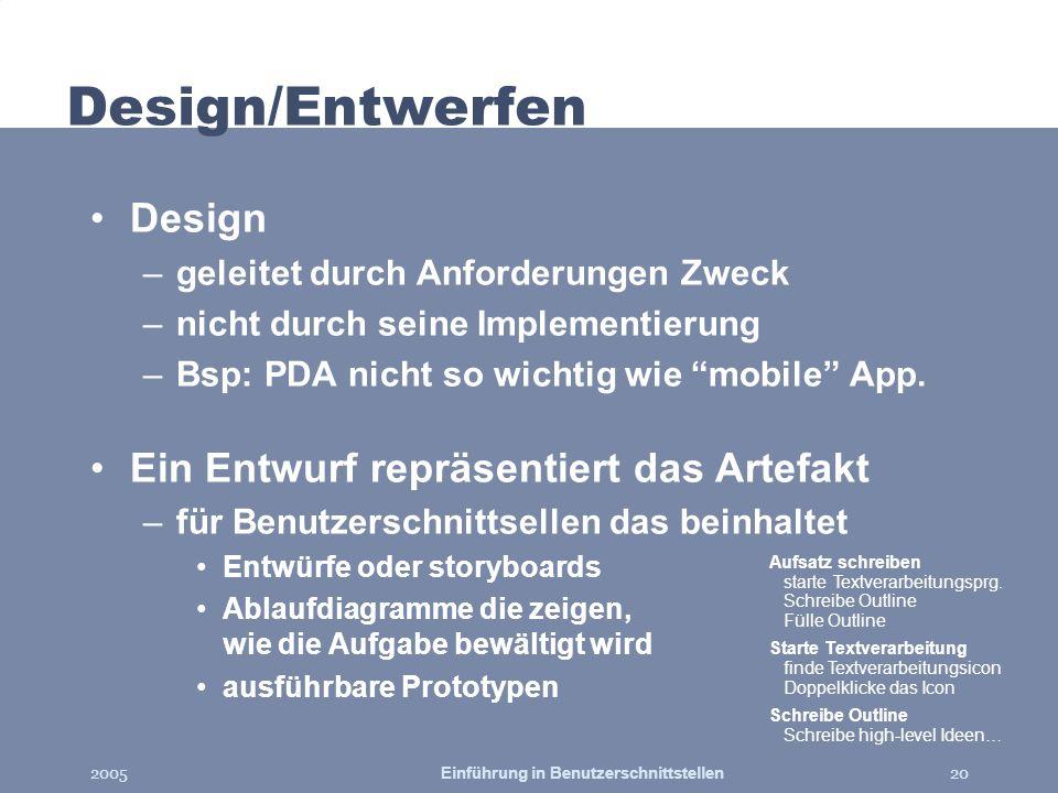 Einführung in Benutzerschnittstellen