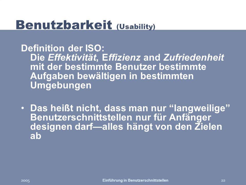 Benutzbarkeit (Usability)