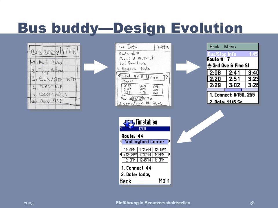 Bus buddy—Design Evolution