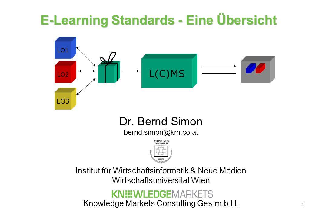 E-Learning Standards - Eine Übersicht