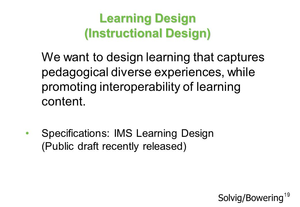 Learning Design (Instructional Design)
