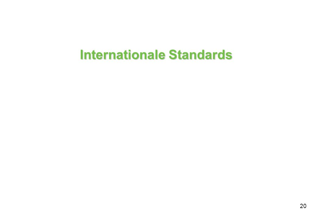 Internationale Standards