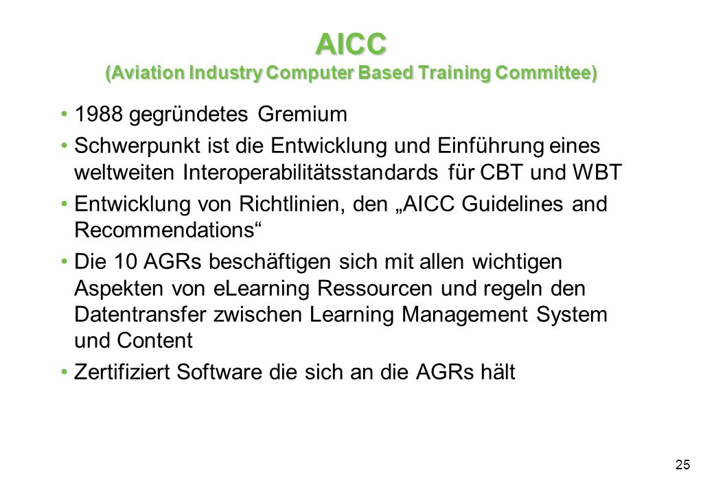 AICC (Aviation Industry Computer Based Training Committee)